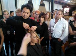 Getting some one-on-one training at the ORIBE class in Atlanta with Kien Hoang