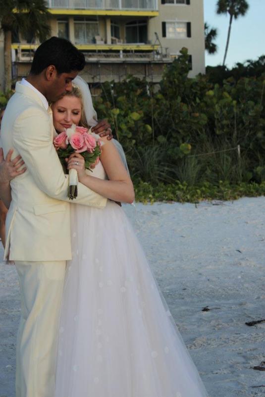 Salon Tease Beach Wedding and Groom