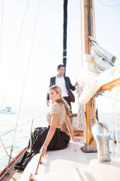 Salon Tease Yacht Engagement Photo Shoot